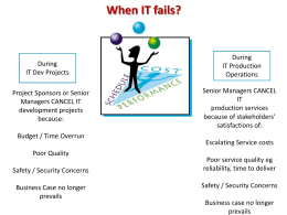 What is an IT Failure?