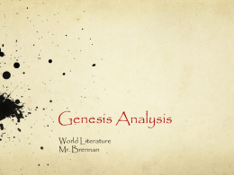 Genesis Analysis (PPT)