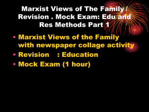 Marxist Perspectives on the Family