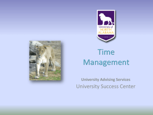 Time Management [PPT] - University of North Alabama