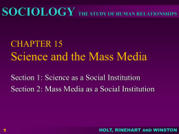CHAPTER 15 Science and the Mass Media