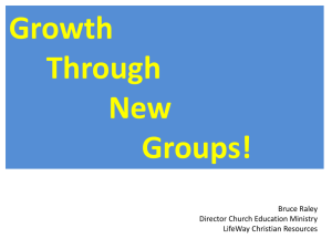Growth Through New Groups .ppt