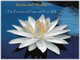 Karma and Dharma - The Paradox of Fate and Free Will -