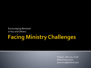 Facing Ministry Challenges
