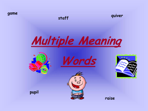 multiple meaning words ppt - fourthgradeteam2012-2013