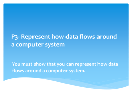 P3- Represent how data flows around a computer
