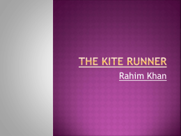 The Kite Runner Rahim Khan