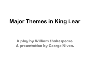 George N Major Themes in King Lear