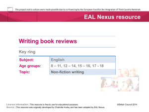Book review key ring  - EAL Nexus