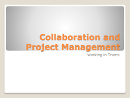 Collaboration and Project Management