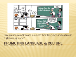 Promoting Language