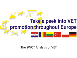 SWOT Analysis - Take A Peek into VET Promotion Throughout
