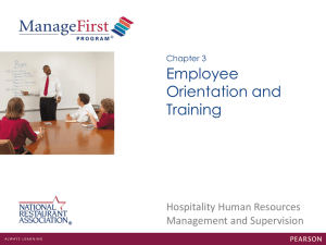 Chapter 3 Employee Orientation and Training