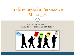 Indirectness in Persuasion and Sales Messages