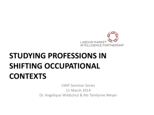 Studying professions in shifting occupational contexts