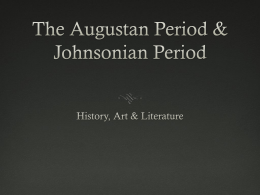 Augustan & Johnsonian (Junaid & Josh)