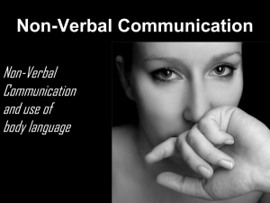 communication nonverbal