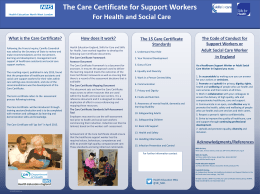 Care Certificate Poster with blank contact section