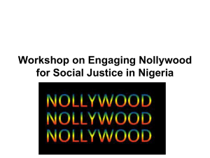 Presentation on Nollywood Participation by Friday Okonofua