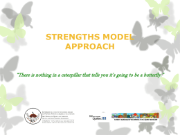 Strengths model approach