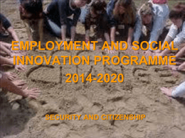 Employment and Social Innovation Programme