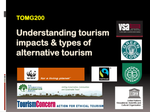 Understanding tourism impacts & types of