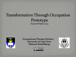 Transformation Through Occupation - Vula
