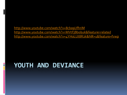 Youth and Deviance