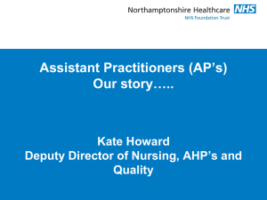 Kate Howard, NHFT AP Presentation