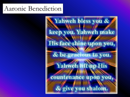 03/03/12 Aaronic Benediction PowerPoint