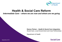 Health & Social Care Integration