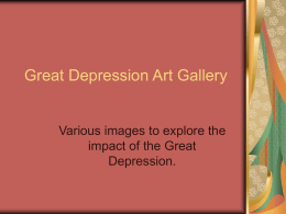 Great Depression Art Gallery