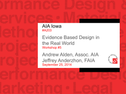 Evidence Based Design in the Real World