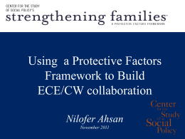 Using a Protective Factors Framework to Build ECE/CW Collaboration
