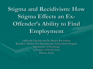 How Stigma Effects an Ex-Offender`s ability to find employment