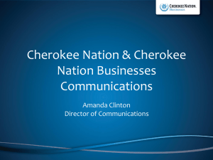 Cherokee Nation`s Communication Overview (PowerPoint)