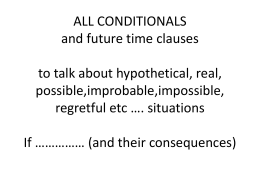 ALL CONDITIONALS