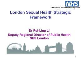 Presentation from Dr Pui - Ling Li, Director of Public Health NHS
