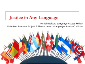 Justice in Any Language - American Bar Association