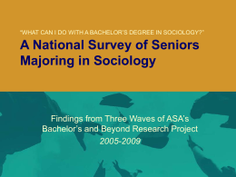 A National Survey of Seniors Majoring in Sociology