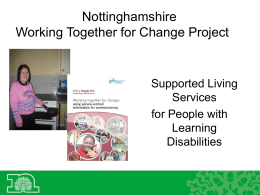 Notts CC presentation on the project PPT