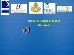 Recovery Focused Practice - Mental Health Commission