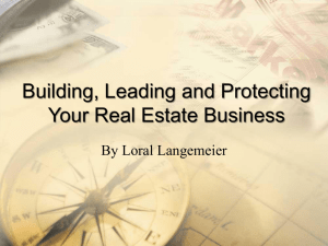Building, Leading and Protecting Your Real Estate