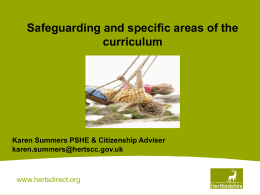safeguarding_curriculum - Hertfordshire Grid for Learning