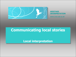 Communicating local stories