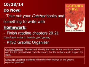 Introduction to J.D. Salinger`s: The Catcher in the Rye