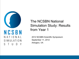 The NCSBN National Simulation Study