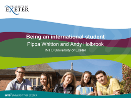Being an international student