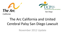 The Arc UCP (San Diego) Lawsuit