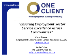 Ensuring Employment Sector Service Excellence Across Communities